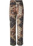 Tramontana Trousers Wide Leg Scarf Print C15-94-102
