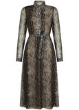 Tramontana Dress Polo Collar Midi Snake print