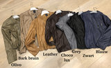 One Two Luxzuz zwart Athena suède coated jacket met ritsjes._