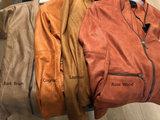 One Two Luxzuz Cognac Maise suède coated jacket