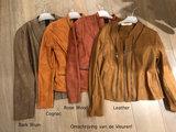 One Two Luxzuz Cognac Maise suède coated jacket_