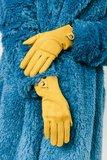 Handschoenen in het geel