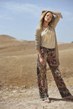 Tramontana T-shirt Graphic Sequins Mid Sand