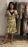 Esqualo Dress wrap around zebra print _