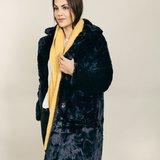 Flirt blauwe winter mantel