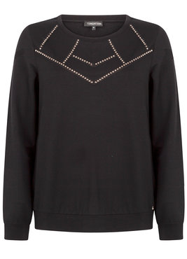 Tramontana Sweater Studded Zwart