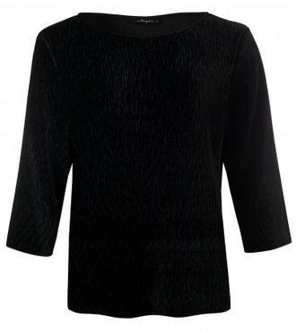 Dayz Loïs - Plisse velours top in zwart