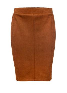Dayz Alette - Cognac skirt suède look a like