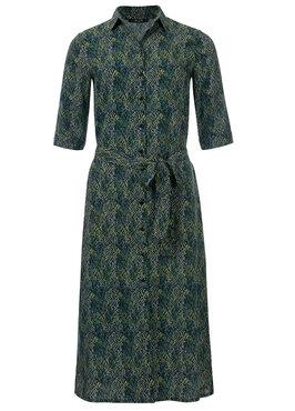 Dayz Zizi - Geprinte blouse jurk met koord