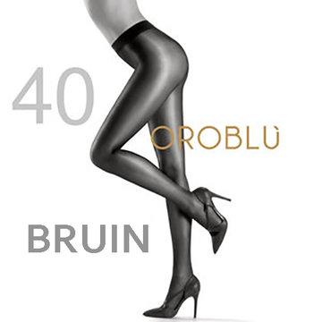 Oroblu Maggie 40 den Bruin Negre Satin Tights