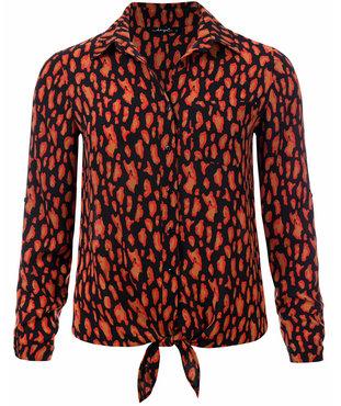 Dayz Anabel - Geprinte blouse met knoop
