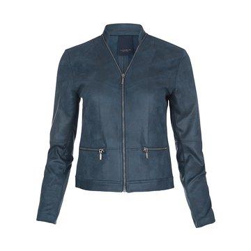 One Two Luxzuz Aqua Maise suède coated jacket