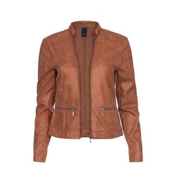 One Two Luxzuz Rose Wood Maise suède coated jacket