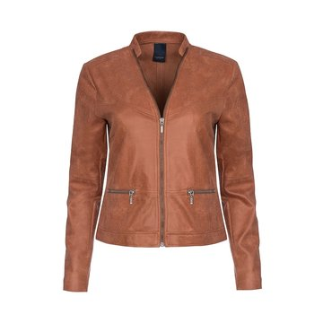 One Two Luxzuz Rose Wood Maise suède coated jacket