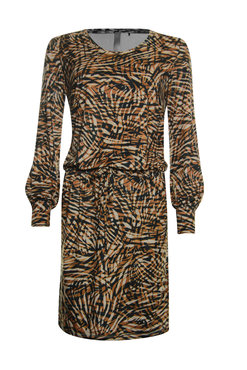 Poools  Dress suedine print safari strip
