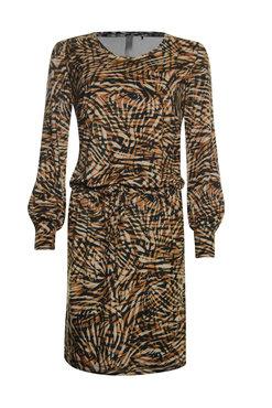 Poools  Dress suedine print safari strip