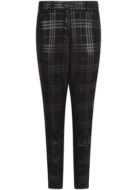 Tramontana Trousers Slim Coated Suedine Check