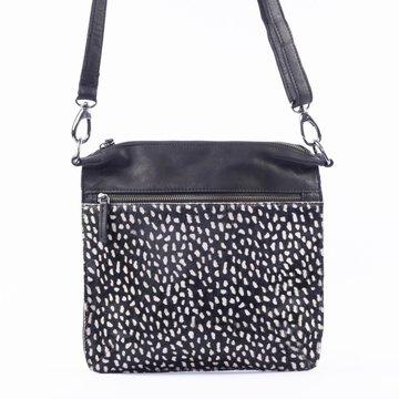 DSTRCT Leren tas met dierenprint Black/white Dots 157390