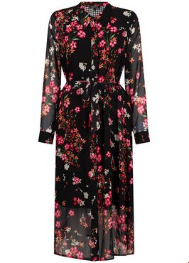Tramontana Dress Long Flower Print