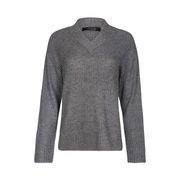 One two luxzuz Hazel Knit Dark Grey Melange