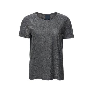 One two luxzuz Karin T-Shirt Glitter Zwart