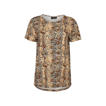 One two luxzuz Karin T-Shirt Croco Honey Gold