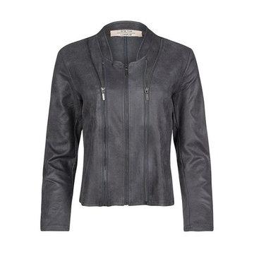 One Two Luxzuz Athena rock grey suède coated jacket