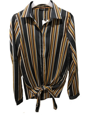 Dayz Bella - Mooie gestreepte knoop blouse