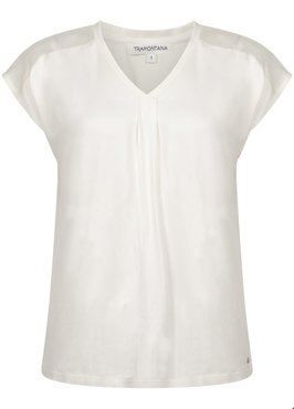 Tramontana Top Basic Satin Yoke Light Cream