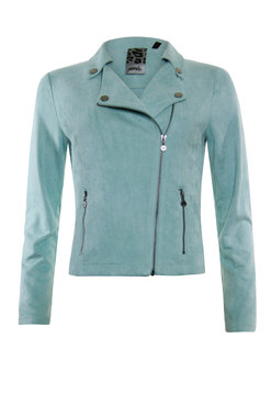 Poools Jacket biker Mint green 013144