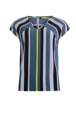 Poools Blouse striped Ocean blue 013130