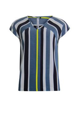 Poools Blouse striped Ocean blue 013130