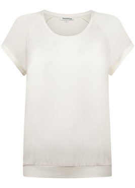 Tramontana Top Basic Satin Raglan Light Cream