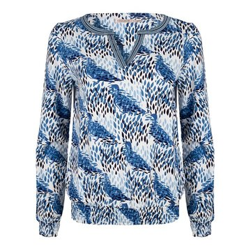 Esqualo Blouse V-neck dove print