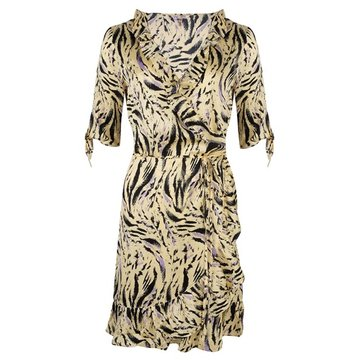 Esqualo Dress wrap around zebra print