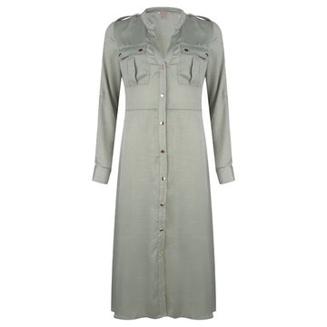 Esqualo Dress satin Olive