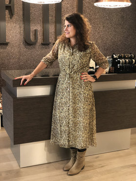 Esqualo Dress long shell print