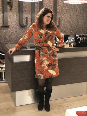 Dayz Corina - Blader print jurk