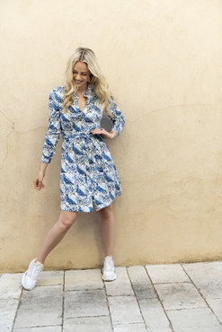Esqualo Dress dove print