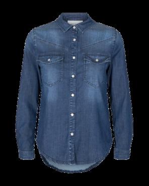 Freequent Spijkerblouse Fia-sh Medium blue