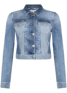Tramontana Jeans Jacket Two-Tone Mid Blue Denim