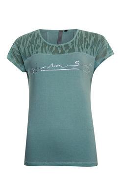 Poools t-shirt print text Mint green 013156