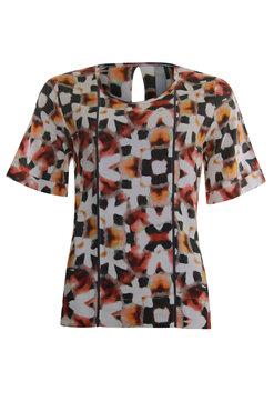 Poools blouse o-neck print 013226