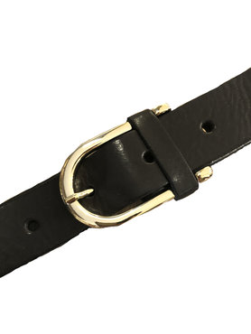 DSTRCT zwarte Lederen riem 30620