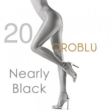 Oroblu Maggie 20 den Nearly Black Satin Tights