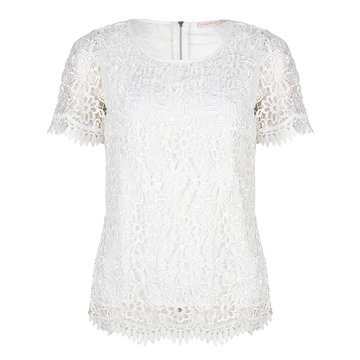 Esqualo Blouse lace Off White