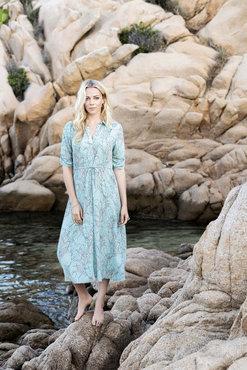 Esqualo Dress long harvest print