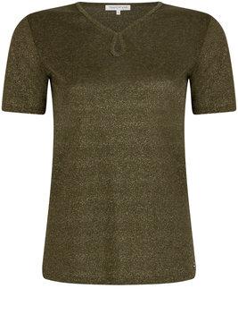 Tramontana T-Shirt Lurex Keyhole