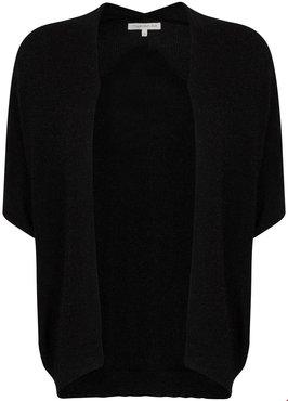 Tramontana Cardigan S/S Basic Lurex Zwart