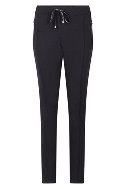 Zoso Hope Navy Sweat pant with printed zippers